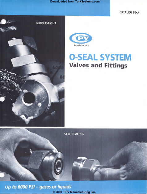 CPV Manufacturing O-Seal Fittings