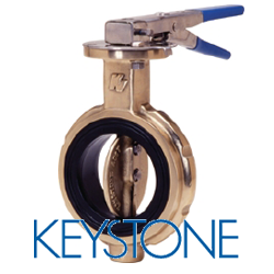 Keystone Valve Bronze Wafer Butterfly Valve