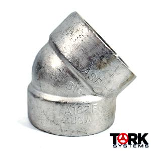 304 stainless steel socket weld 45 degree elbow 6000 LB