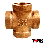 400 lb WOG Sil-Braze Bronze Cross Pipe Fitting
