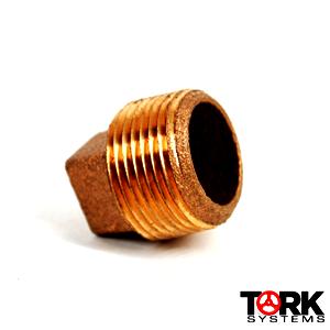 Hollow Threaded hex bronze plug