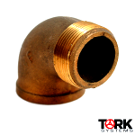 bronze 90 degree elbow fitting threaded x sil braze street